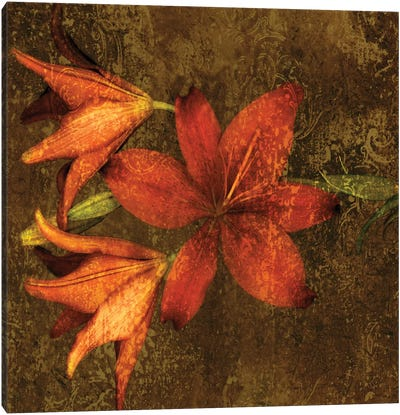 Red Lilies Canvas Art Print