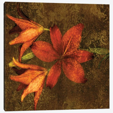 Red Lilies Canvas Print #JOH91} by John Seba Canvas Art Print