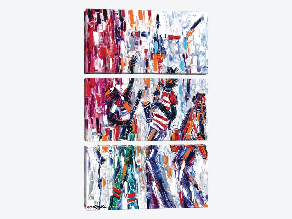 Musical Vibes by Joachim Mcmillan 3-piece Canvas Artwork