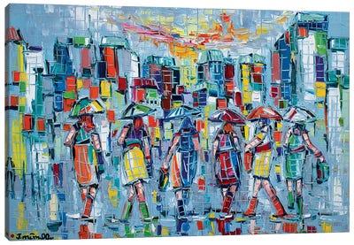 Bargainers Canvas Art Print