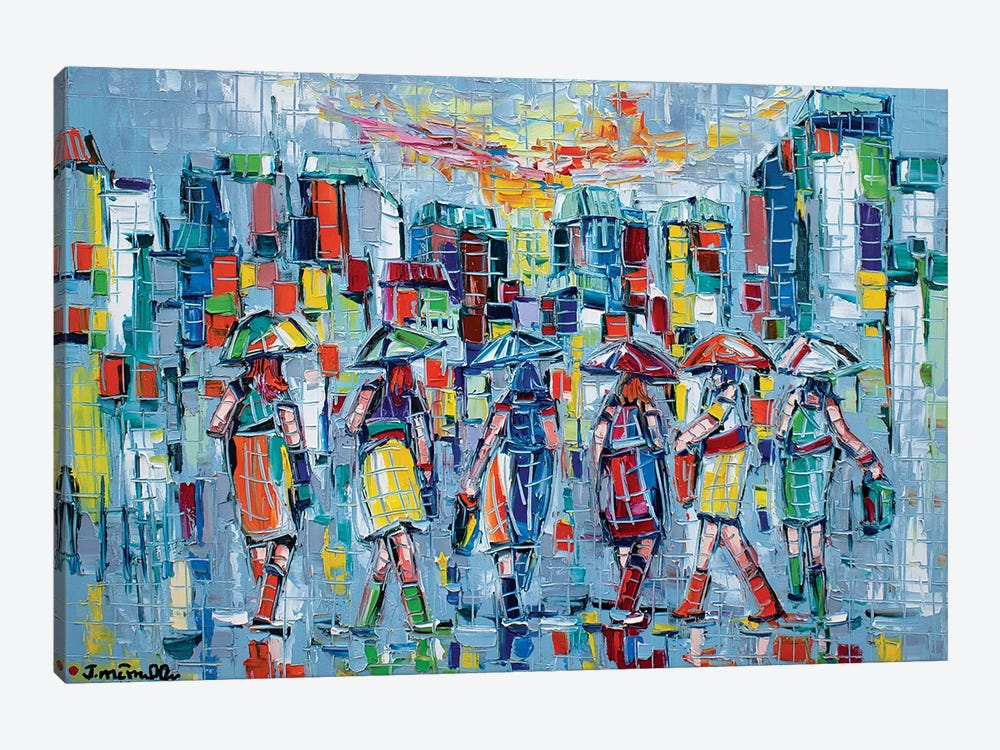 Bargainers by Joachim Mcmillan 1-piece Canvas Artwork