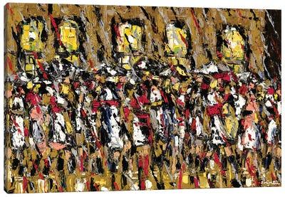 Moving Crowd Canvas Art Print