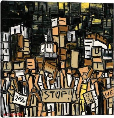 Protest Revolution Canvas Art Print