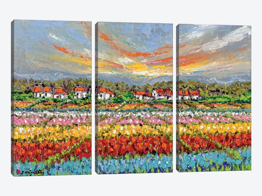 Bliss Garden by Joachim Mcmillan 3-piece Canvas Art Print