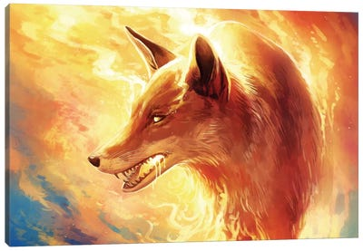 Fire Fox Canvas Print #JOJ11