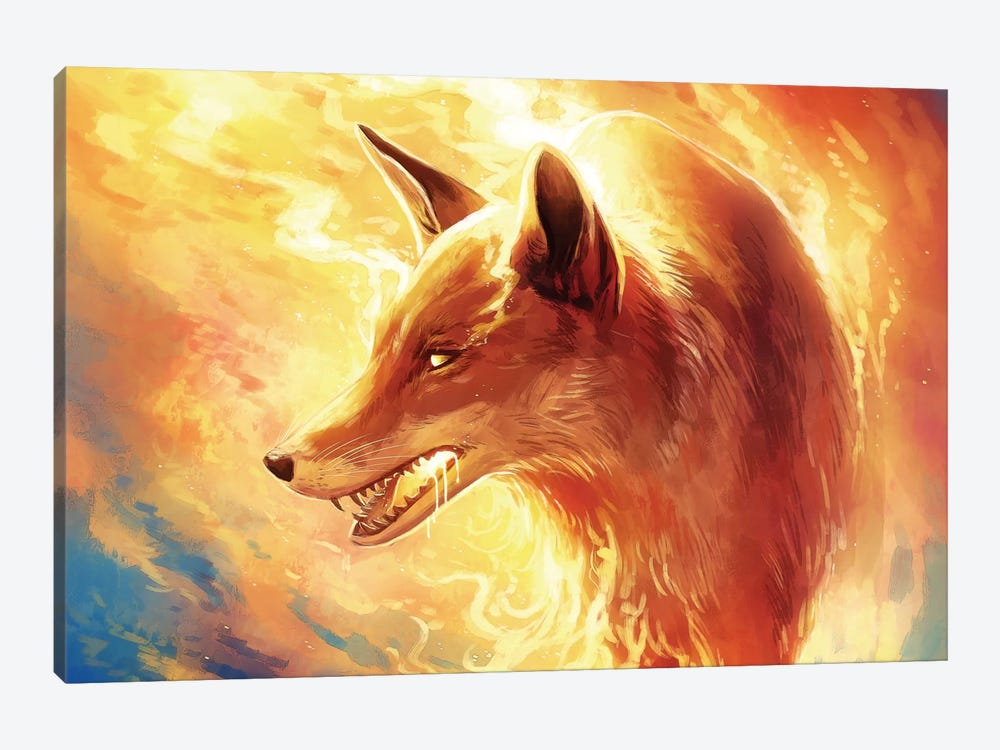 Fire Fox by JoJoesArt 1-piece Canvas Wall Art
