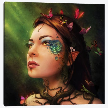 Gaia Canvas Print #JOJ14} by JoJoesArt Canvas Art
