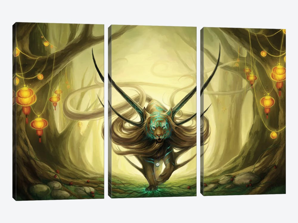 God Of Evanescence by JoJoesArt 3-piece Canvas Art