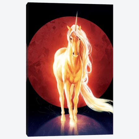 Last Unicorn Canvas Print #JOJ16} by JoJoesArt Canvas Wall Art