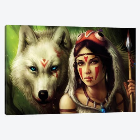 Warrior Princess Canvas Print #JOJ20} by JoJoesArt Canvas Artwork