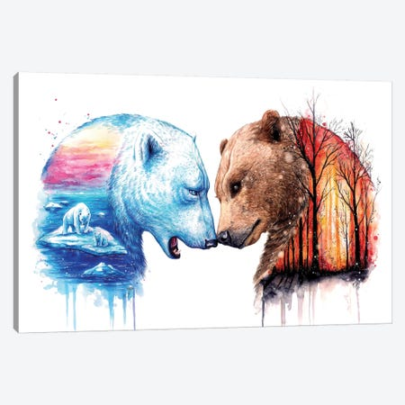 We Are In This Together Canvas Print #JOJ21} by JoJoesArt Canvas Wall Art