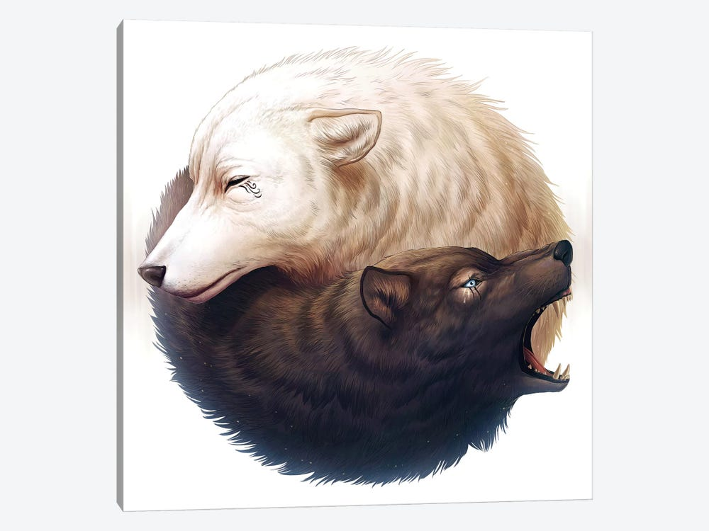 Yin And Yang by JoJoesArt 1-piece Canvas Art Print
