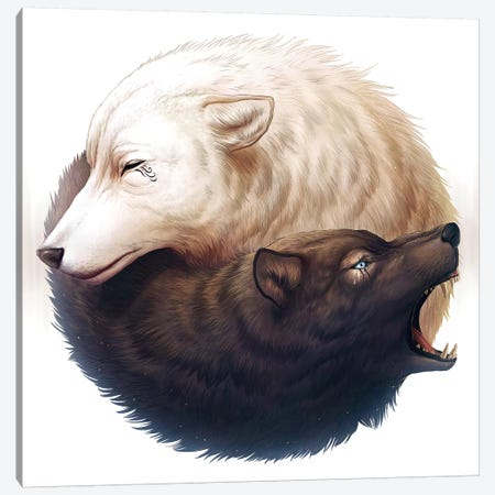 Yin And Yang Canvas Print #JOJ23} by JoJoesArt Canvas Artwork