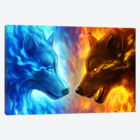 Fire And Ice Canvas Print #JOJ28} by JoJoesArt Canvas Art
