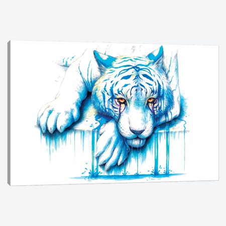 Blue Tears Canvas Print #JOJ2} by JoJoesArt Canvas Art