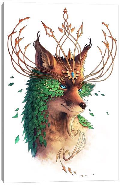 Fox Colored Canvas Art Print