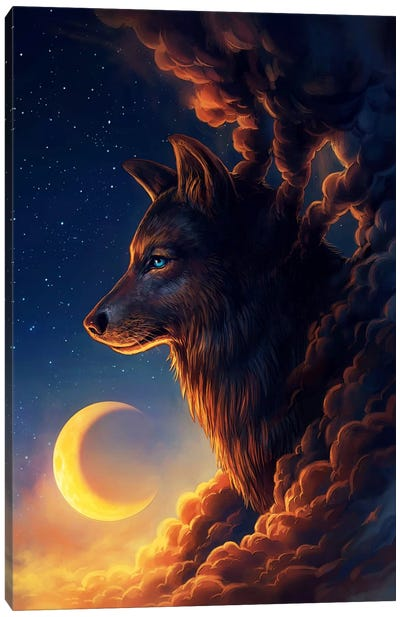 Golden Moon Canvas Art Print