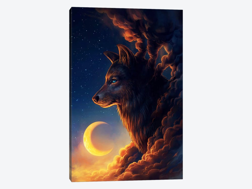 Golden Moon by JoJoesArt 1-piece Art Print