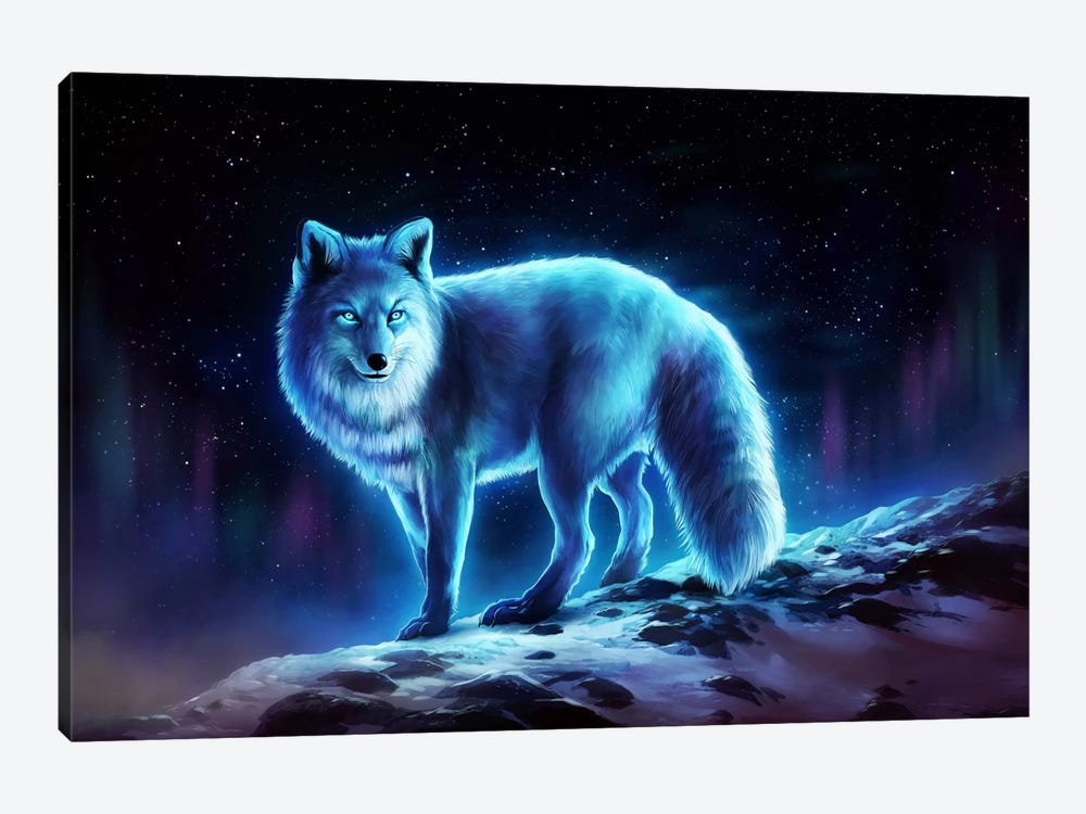 Ice Fox by JoJoesArt 1-piece Canvas Art