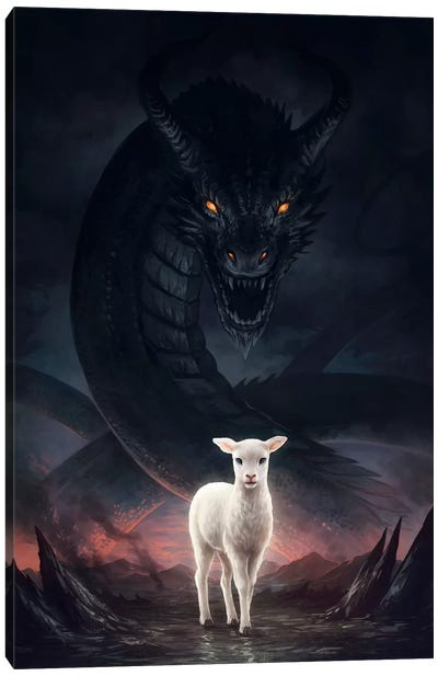 Lamm Gottes Canvas Art Print