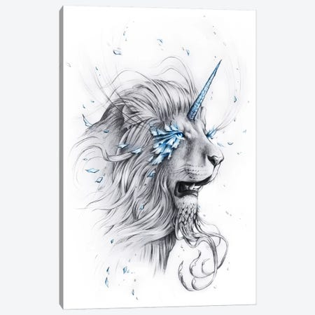 Lion Soul Canvas Print #JOJ36} by JoJoesArt Canvas Art