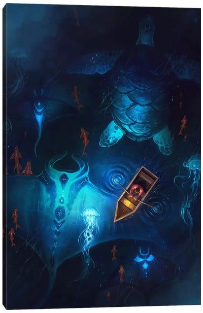 Night Fishing Canvas Art Print