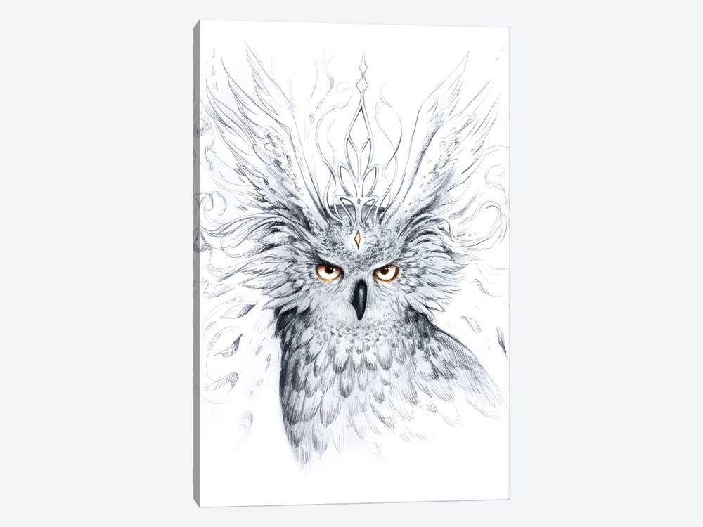 Owl by JoJoesArt 1-piece Canvas Wall Art