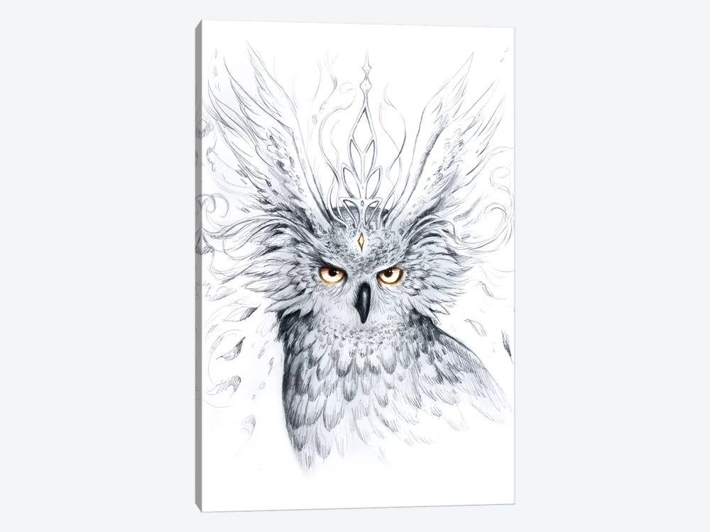 Owl by JoJoesArt 1-piece Canvas Wall Art