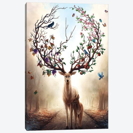 Seasons Canvas Print #JOJ45} by JoJoesArt Canvas Print