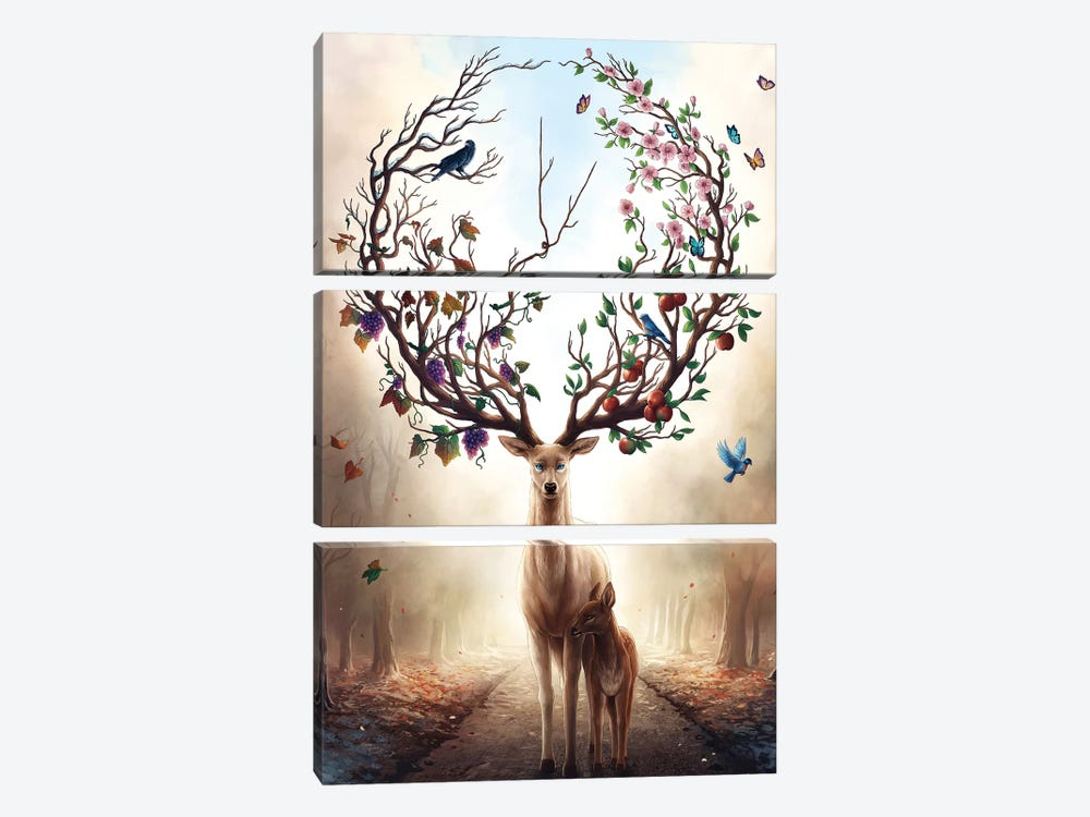 Seasons by JoJoesArt 3-piece Canvas Print