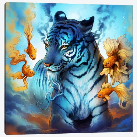 Tiger Fish Canvas Print #JOJ46} by JoJoesArt Art Print