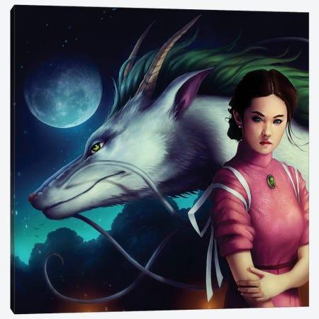 Dragon Night Canvas Print #JOJ7} by JoJoesArt Art Print