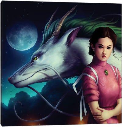 Dragon Night Canvas Art Print