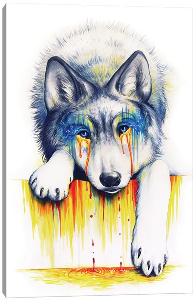 Drowning In Tears Canvas Art Print