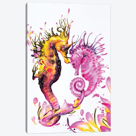 Connecting Hearts Canvas Print #JOK20} by Jongkie Art Print