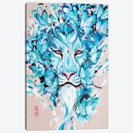 Azure Lion Canvas Print #JOK24} by Jongkie Canvas Art