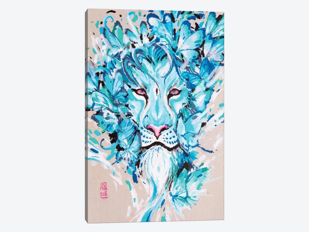 Azure Lion by Jongkie 1-piece Canvas Art Print