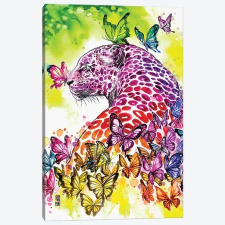Rainbow Leopard Canvas Print #JOK2} by Jongkie Canvas Print