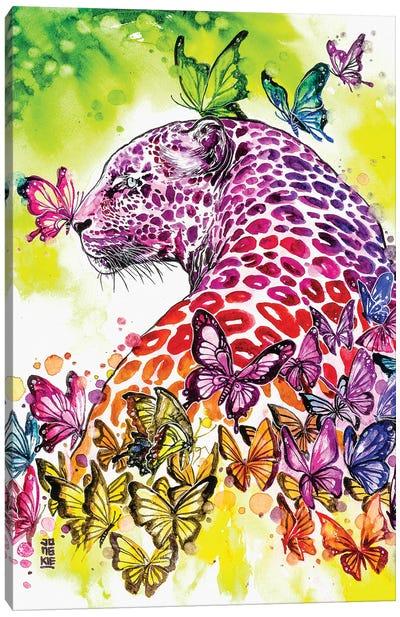 Rainbow Leopard Canvas Art Print