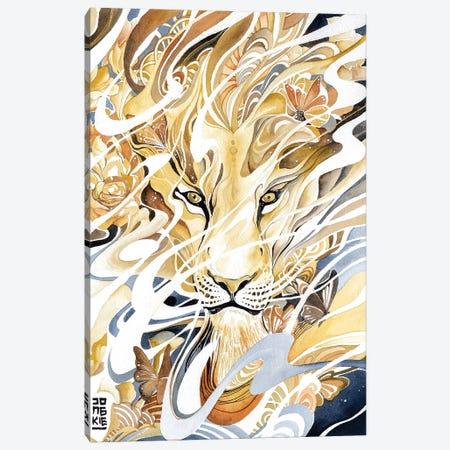 Golden Desert Lion Canvas Print #JOK34} by Jongkie Canvas Art Print