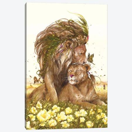 The King 2 Hearts Canvas Print #JOK40} by Jongkie Art Print