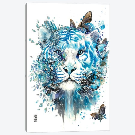 White Ice Tiger Canvas Print #JOK41} by Jongkie Canvas Art Print