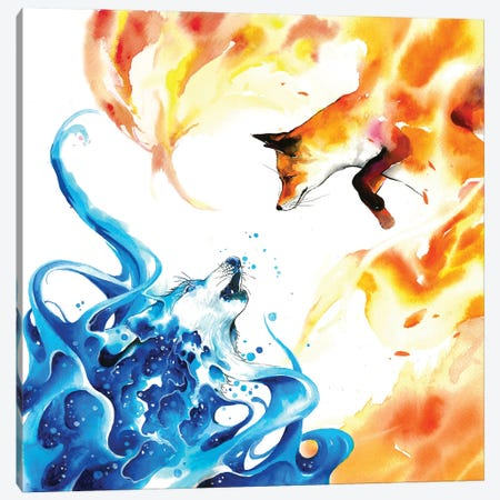 Water & Fire Canvas Print #JOK42} by Jongkie Canvas Art Print