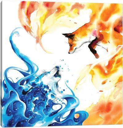 Water & Fire Canvas Art Print
