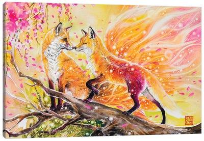Fox Love Canvas Art Print