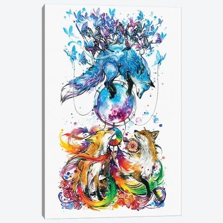 The Dream Catcher Canvas Print #JOK8} by Jongkie Art Print
