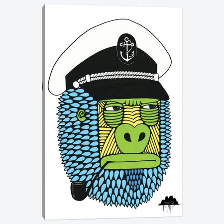 Captain Gorilla Canvas Print #JOL10} by MULGA Canvas Print