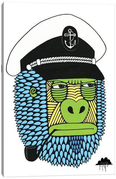 Captain Gorilla Canvas Art Print