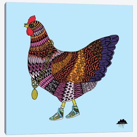 Cherry The Chicken Canvas Print #JOL11} by MULGA Canvas Print