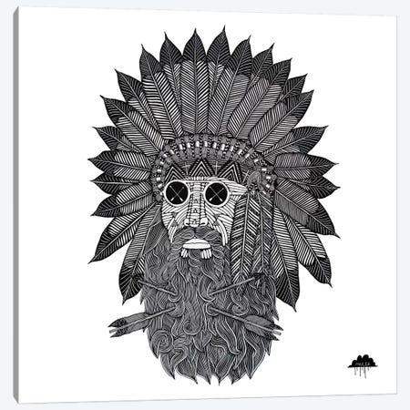 Chief Great Beard Canvas Print #JOL12} by MULGA Canvas Art Print